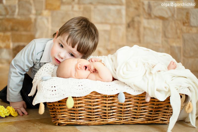 Фотосессия новорожденных. Малышка Лея и Гоша