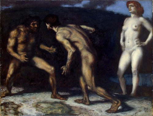 Franz von Stuck - Fighting for a Woman [1905] by Gandalf's Gallery