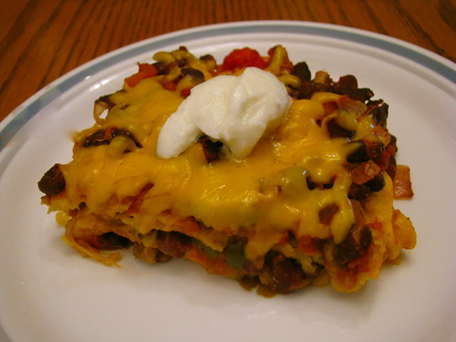 Tortilla Black Bean Casserole