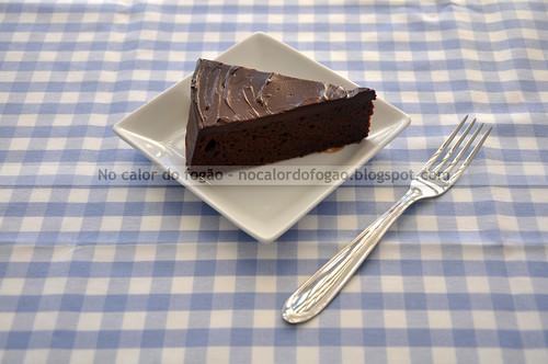 Almost-fudge gâteau, a fatia