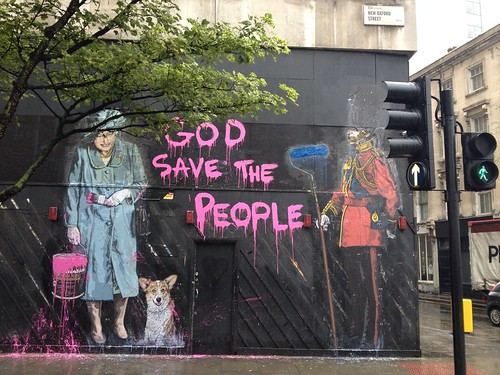 God save the queen by Banksy