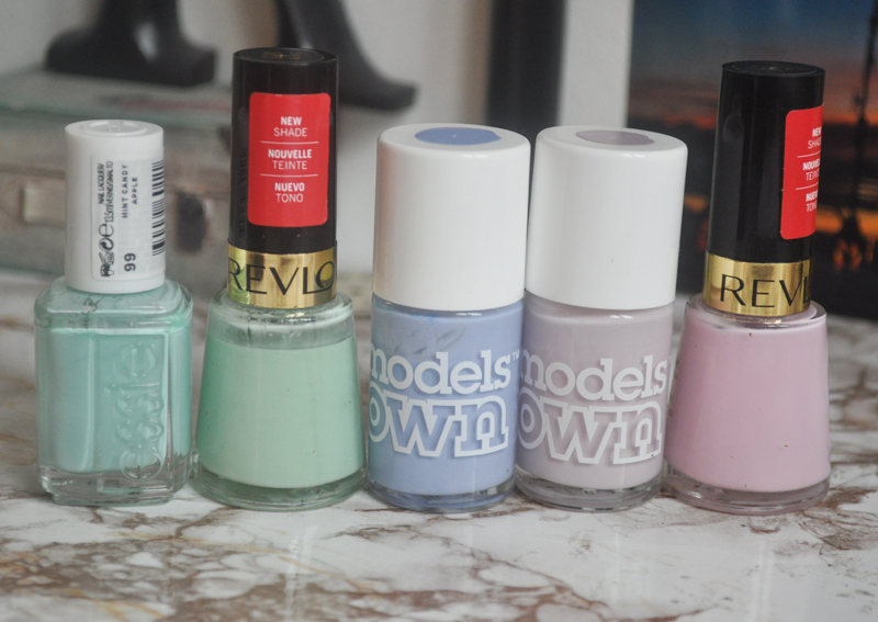 top 5 pastel nail polish essie revlon models own