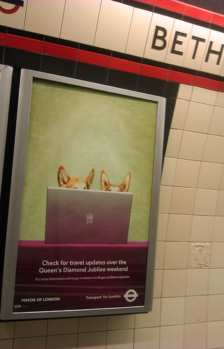 Diamond Jubilee Tube Ad by Annie Mole