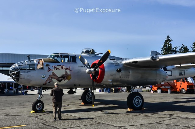 """Can I get Your Number?"" North American B-25J Mitchell ""In The Mood"""