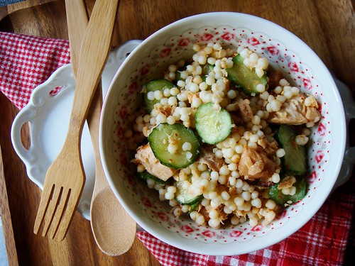 Warm Israeli Couscous with Smoked Salmon