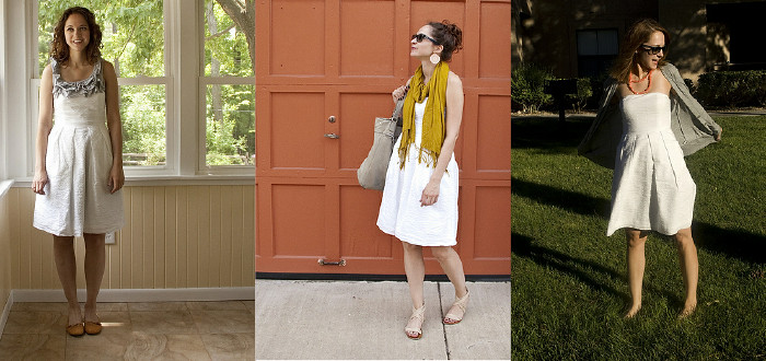 white dress, beach dress, j.crew white, embossed cotton dress, how to wear, j to the crew, dear jenna lyons i heart this dress
