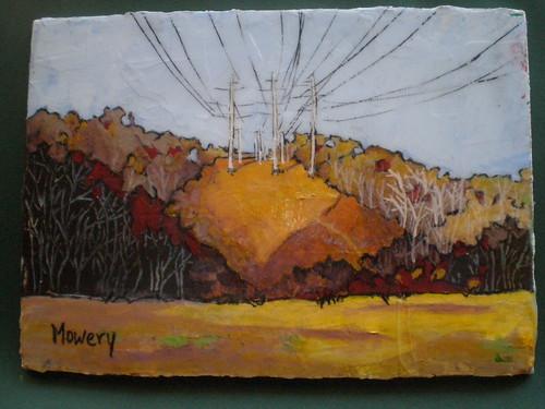 Power lines, acrylic, Barbara Mowery 2012