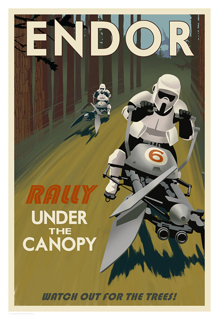 Star_Wars_Endor_Rally_Under_The_Canopy_Steve_Thomas_Travel_Poster