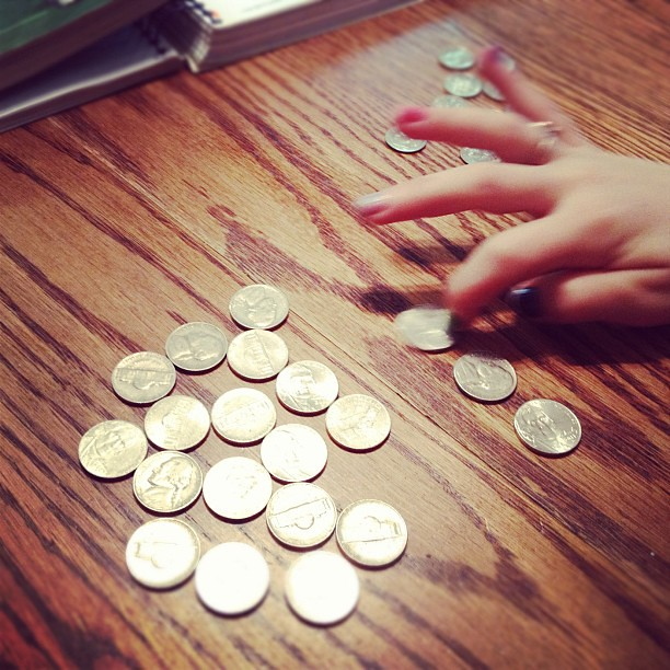 Learning to count money.