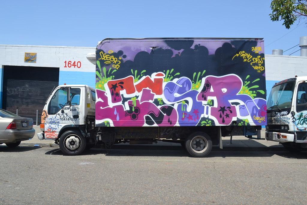 CESAR, Graffiti, truck, Street Art, Oakland