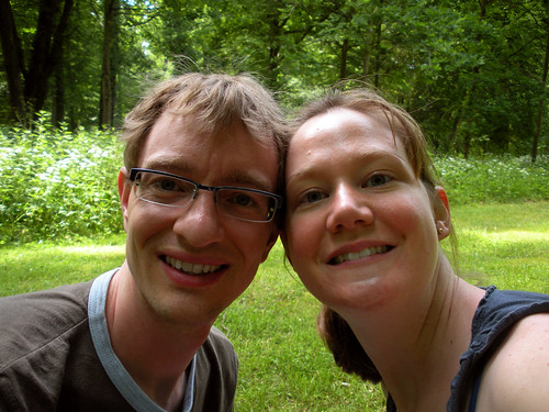 At our picnic at Sanssouci on our first wedding anniversary!