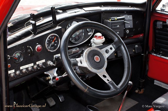 1966 austin mini cooper s mki rally car interior flickr photo sharing. Black Bedroom Furniture Sets. Home Design Ideas