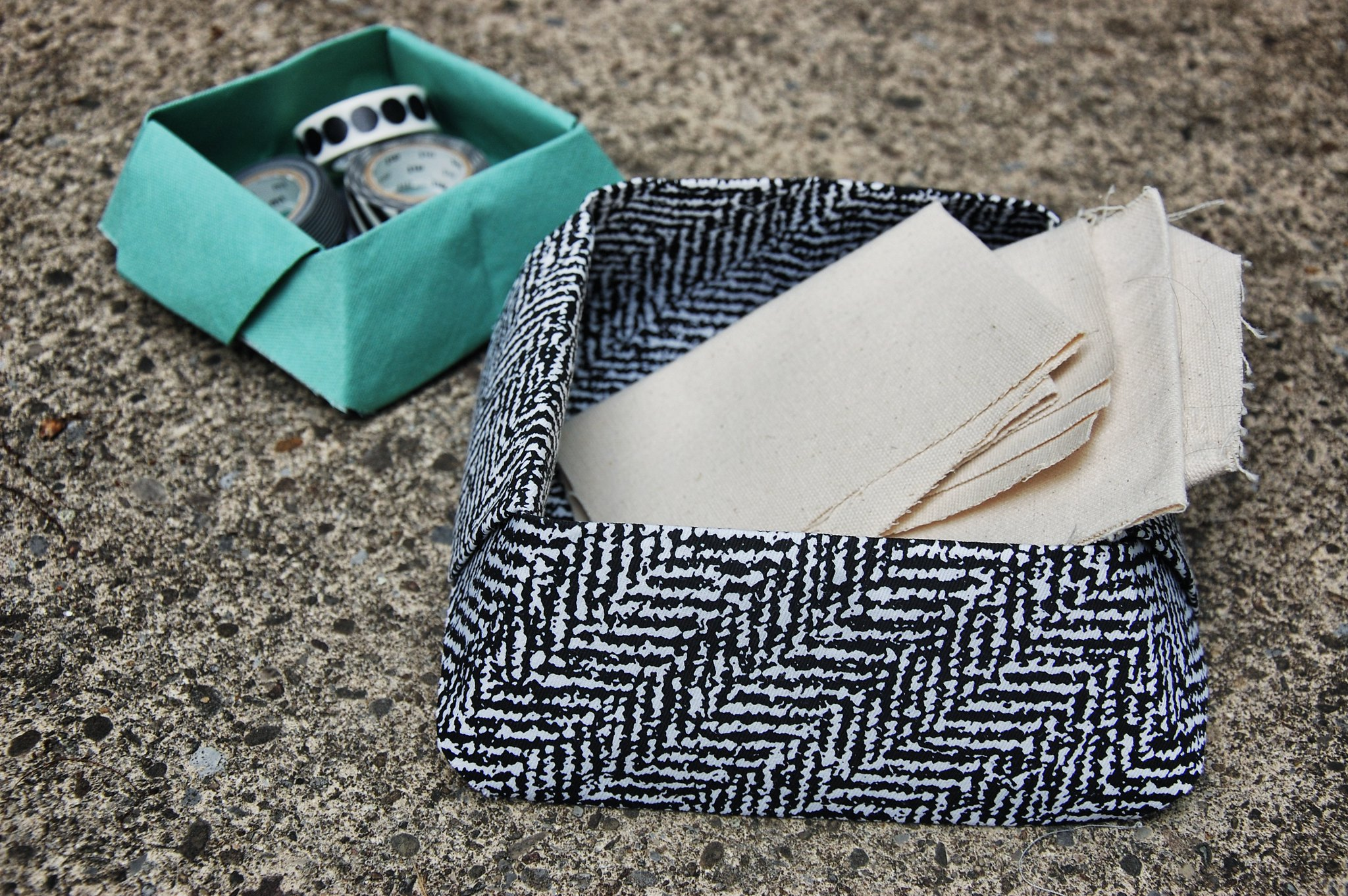 Well Its Okay Diy Fabric Origami Storage Box
