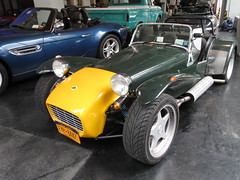 race car(1.0), automobile(1.0), lotus seven(1.0), vehicle(1.0), performance car(1.0), automotive design(1.0), caterham 7 csr(1.0), caterham 7(1.0), antique car(1.0), vintage car(1.0), land vehicle(1.0), convertible(1.0), sports car(1.0),