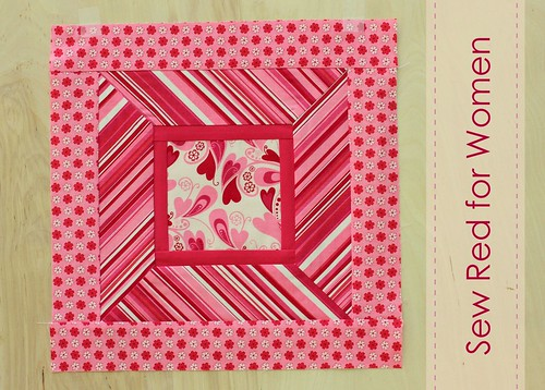 July Block Tutorial for Sew Red for Women