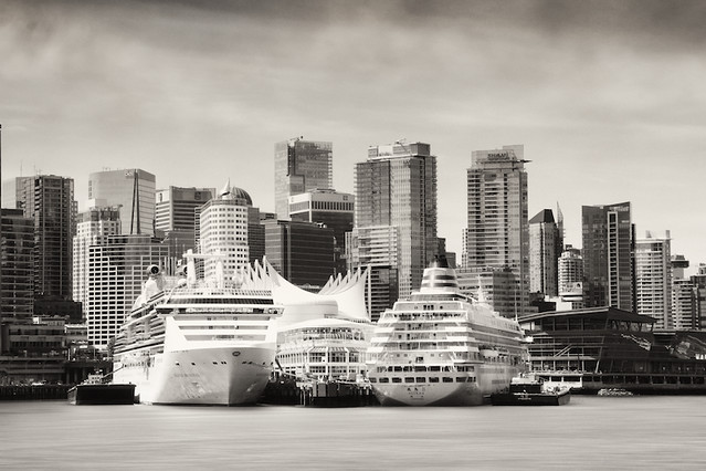 Today in Vancouver: Ship to ship, sail to sail | Cruise Ships at Canada Place