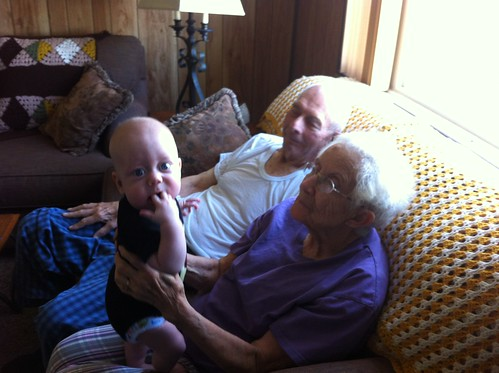 Having fun with the grandfolks