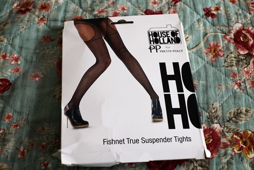 01.07.12 :: Henry Holland Suspender Fishnets and Topshop Military Casuals