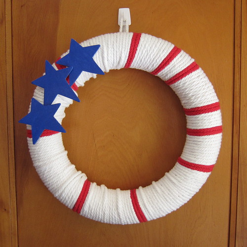 Iron Craft Challenge #13 - Stars & Stripes Rope Wreath