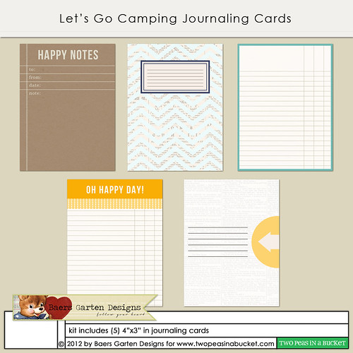 Let's Go Camping Journaling Cards