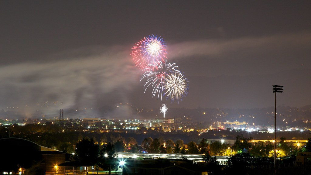 Fireworks in the Santa Clarita Valley, CA.