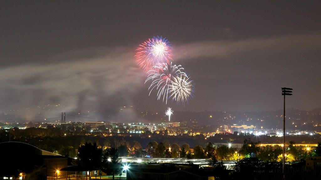 Fireworks in the Santa Clarita Valley, CA.