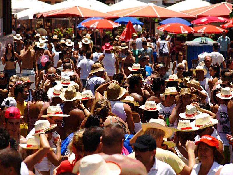 Straw hats at Fiestas del Carmen, Puerto de la Cruz, Tenerife