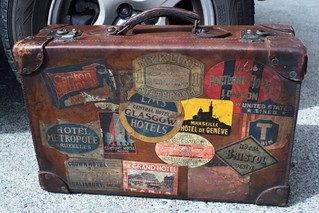 antique travelling bag