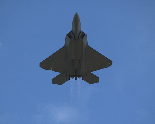 F-22 at 2008 Farnborough Airshow