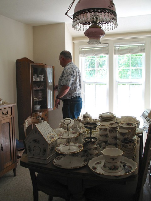 Emptying the China Cabinets