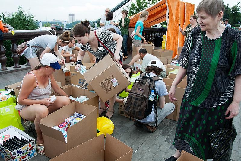 Сбор помощи для Крымска на Воробьевых горах