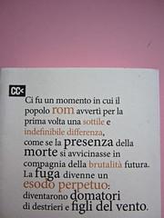 Sergio Pretto, Novecento Rom, CartaCanta 2012. Progetto grafico e logo: Oblique Studio, ill. di cop.: Sara Stefanini. Q. di copertina (part.), 2