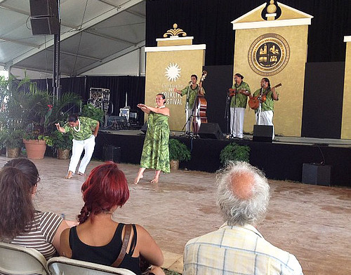 <p>The Tuahine Troupe performs at the Smithsonian Folklife Festival.</p>