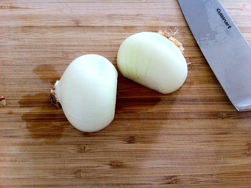 Halved and Peeled Medium Onion