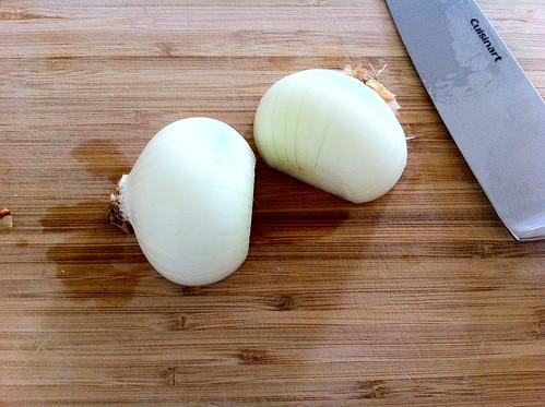 Halved and Peeled Medium Onion