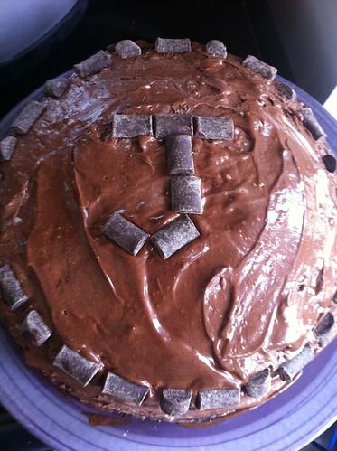 JC Birthday Fun - why yes, this is a vegan chocolate ice cream cake.