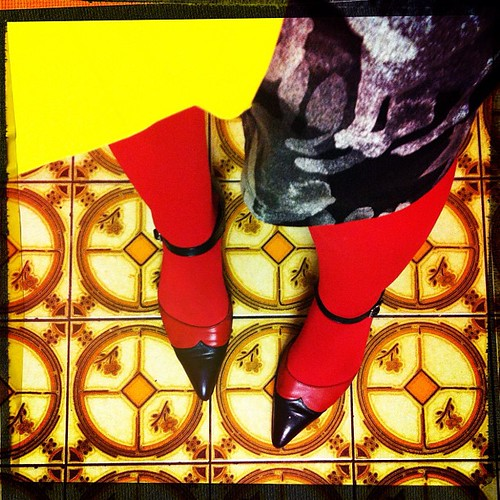 Today's legs, #marimekko bag & dress