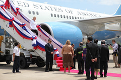 Secretary Clinton Arrives in Laos