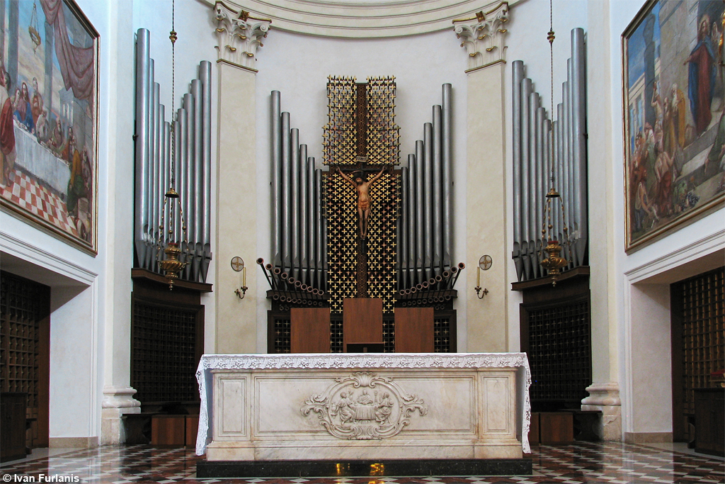 Abano Terme, Duomo di San Lorenzo. Tamburini Op. 537 / Op. 755 / Bonato