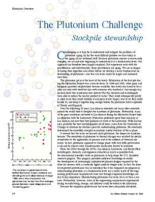 The Plutonium Challenge Stockpile Stewardship