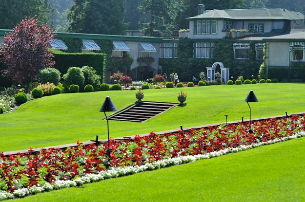 Butchart-gardens-green-grass