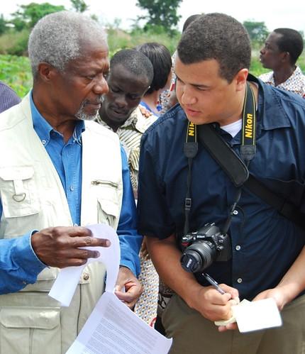 Jeff Haskins with Kofi Annan in Ghana