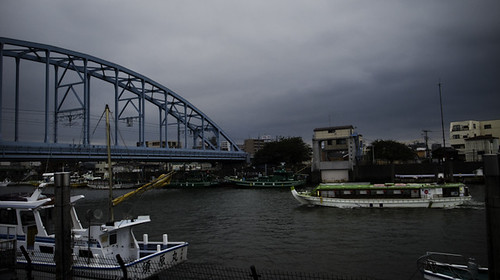 Autumn in July, Urayasu Bridge and Boats