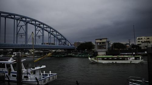 Autumn in July, Urayasu Bridge and Boats