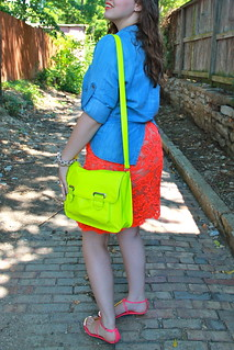 Neon loves chambray outfit: