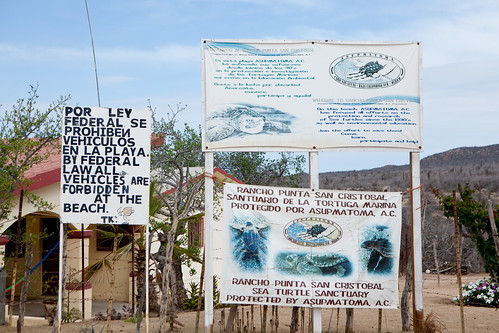Rancho Punta San Cristobal - warning signs