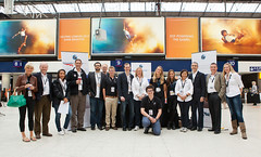 Virgin Galactic Team at Waterloo Station ready to meet Galactic Guests. Photo by Mark Chivers