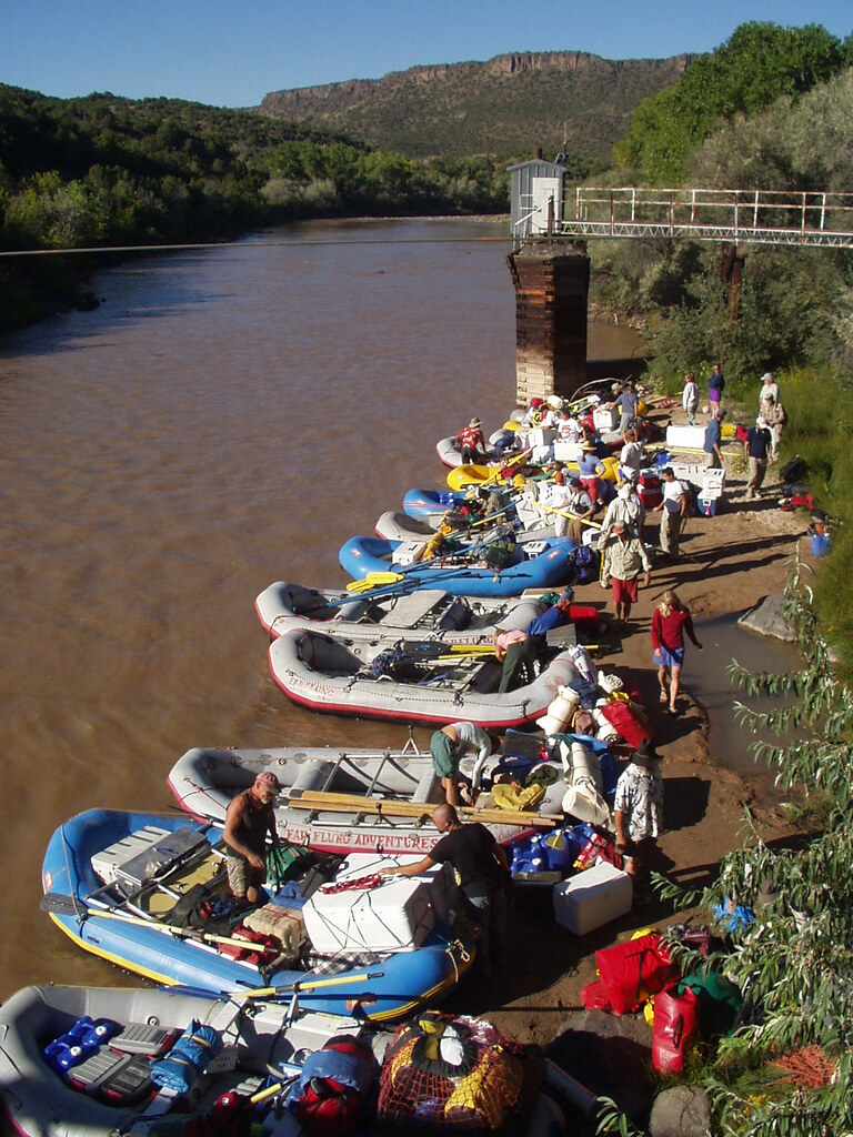 Raft Trip: rafts on the Rio Grande