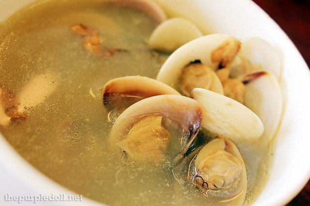 Bowl of Ginger and Clam Soup