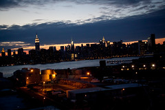 Manhattan Skyline at Magic Hour - Viewed from the Wythe Hotel Rooftop - Williamsburg, Brooklyn